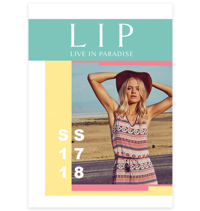 LIP Live in Paradise clothing lookbook spring summer 2017 collection