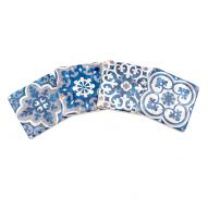 Jerada Blue Coasters Set 4