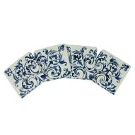 Blue Fleur Coaster Set of 4