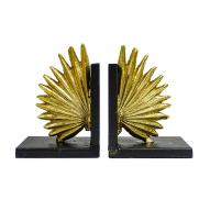 Palm Leaf Bookend Set