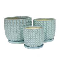 Darcy Pot & Saucer Set of 3 26cmH