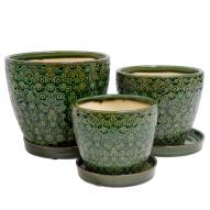 Hannah Pots & Saucers Set of 3