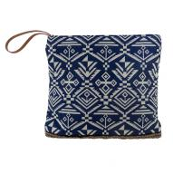 Nautical Denim Clutch w Zip