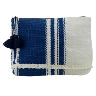 Nautical Denim Stripe Clutch