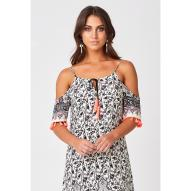 Jamie Cold Shoulder Dress Bud Print