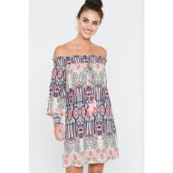 Sabrena Off Shoulder Dress Fruity Print