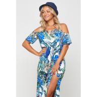 Grenada Monstera Palm Maxi Dress