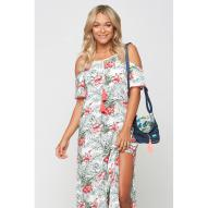 Grenada Hibiscus Palm Maxi Dress