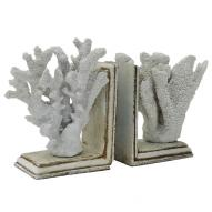 Coral Book Ends Set 20.5cmH