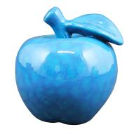 Apple Decor Blue 11cmH