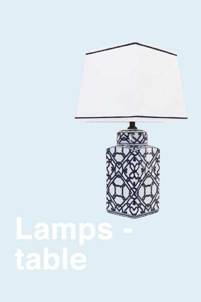 LAMPS -TABLE